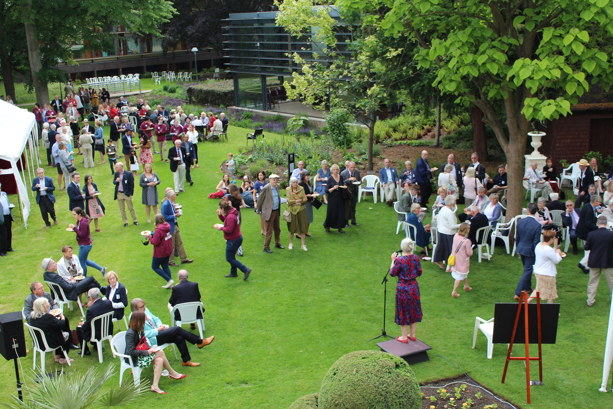 The Donors' Garden Party was a celebration at the end of our Campaign