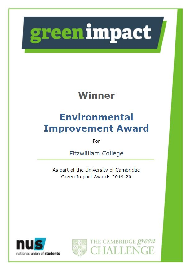 Environmental Improvement Award for Fitzwilliam College