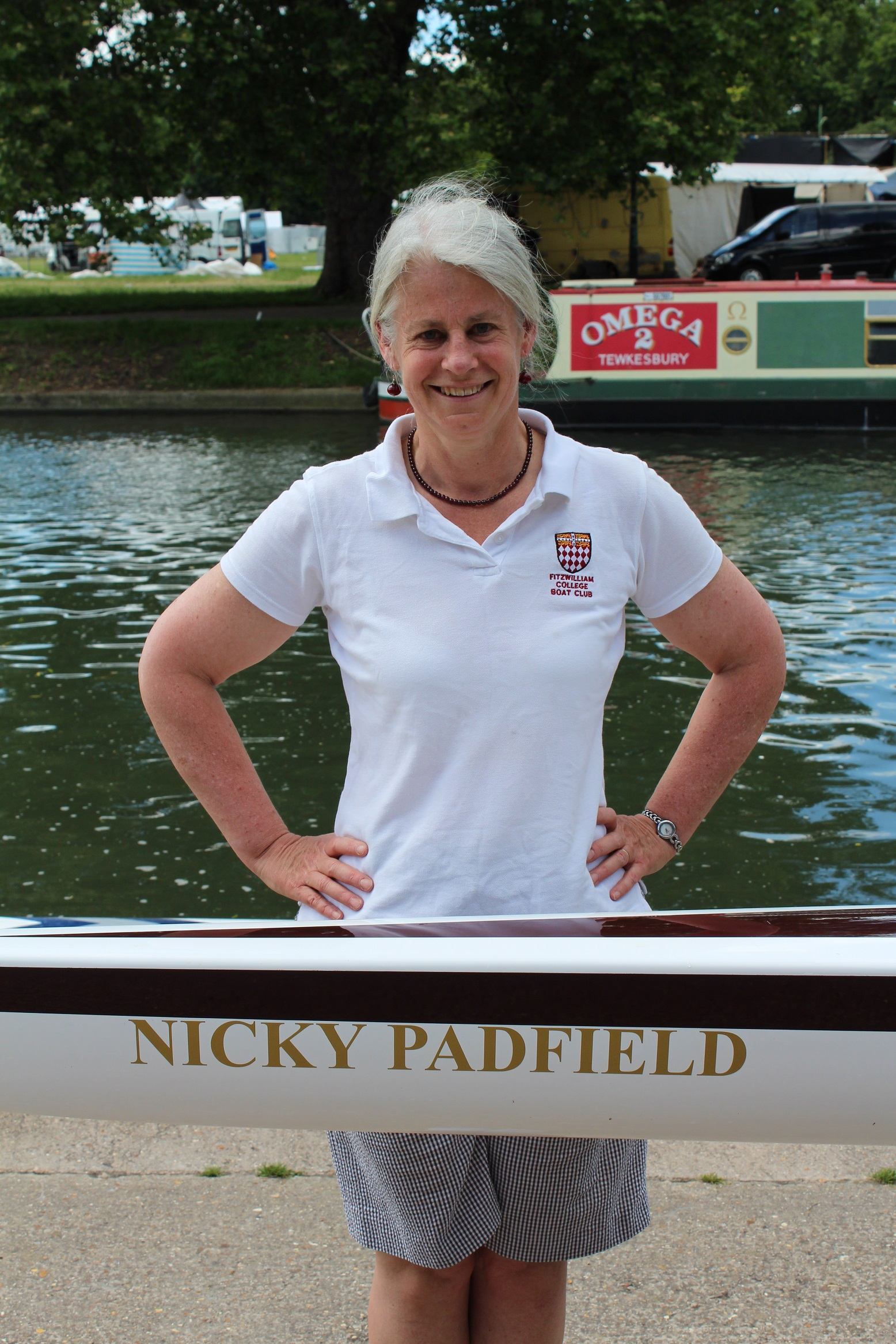 Professor Nicola Padfield has a Fitzwilliam Boat Club boat named after her