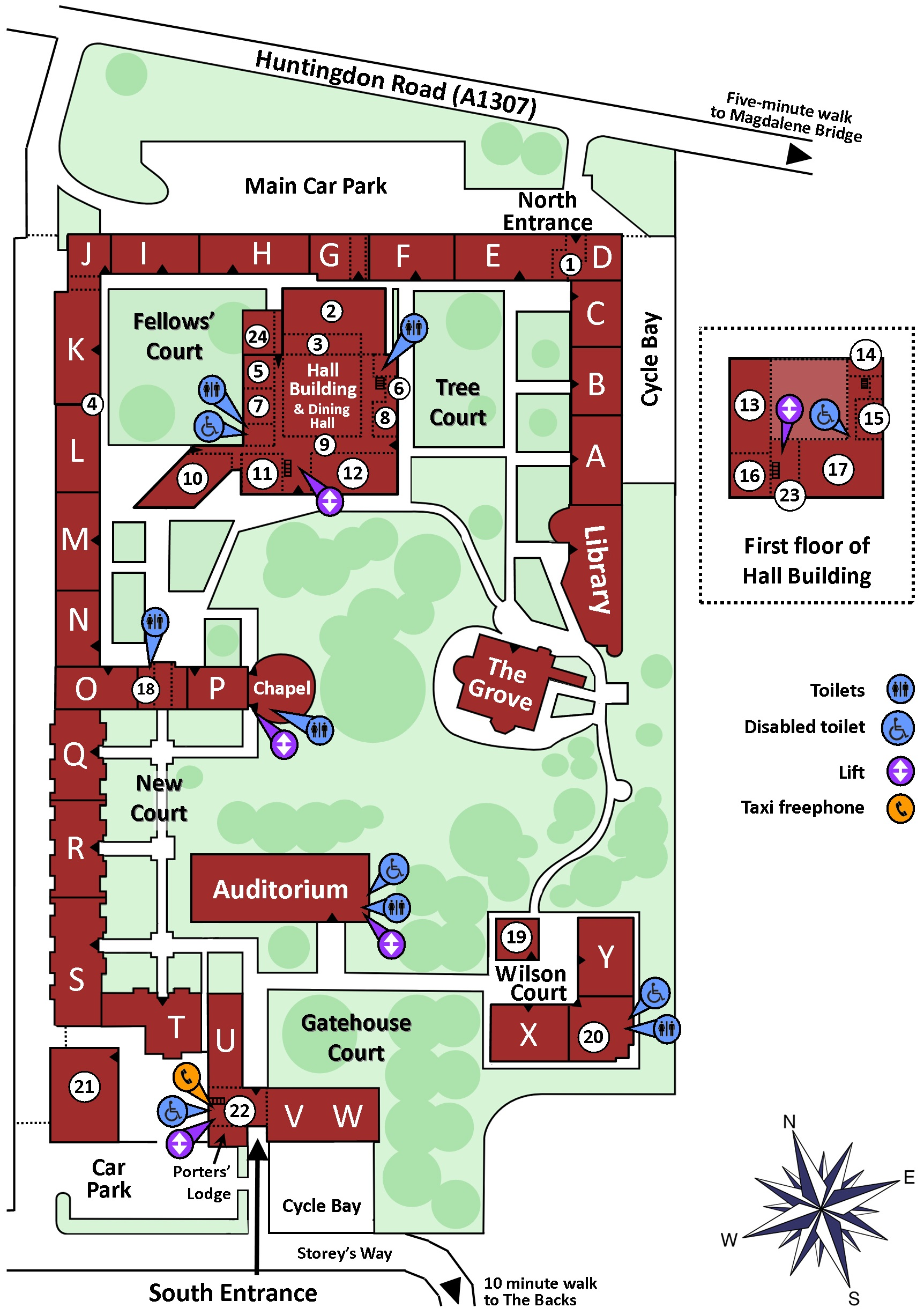 Fitzwilliam College map