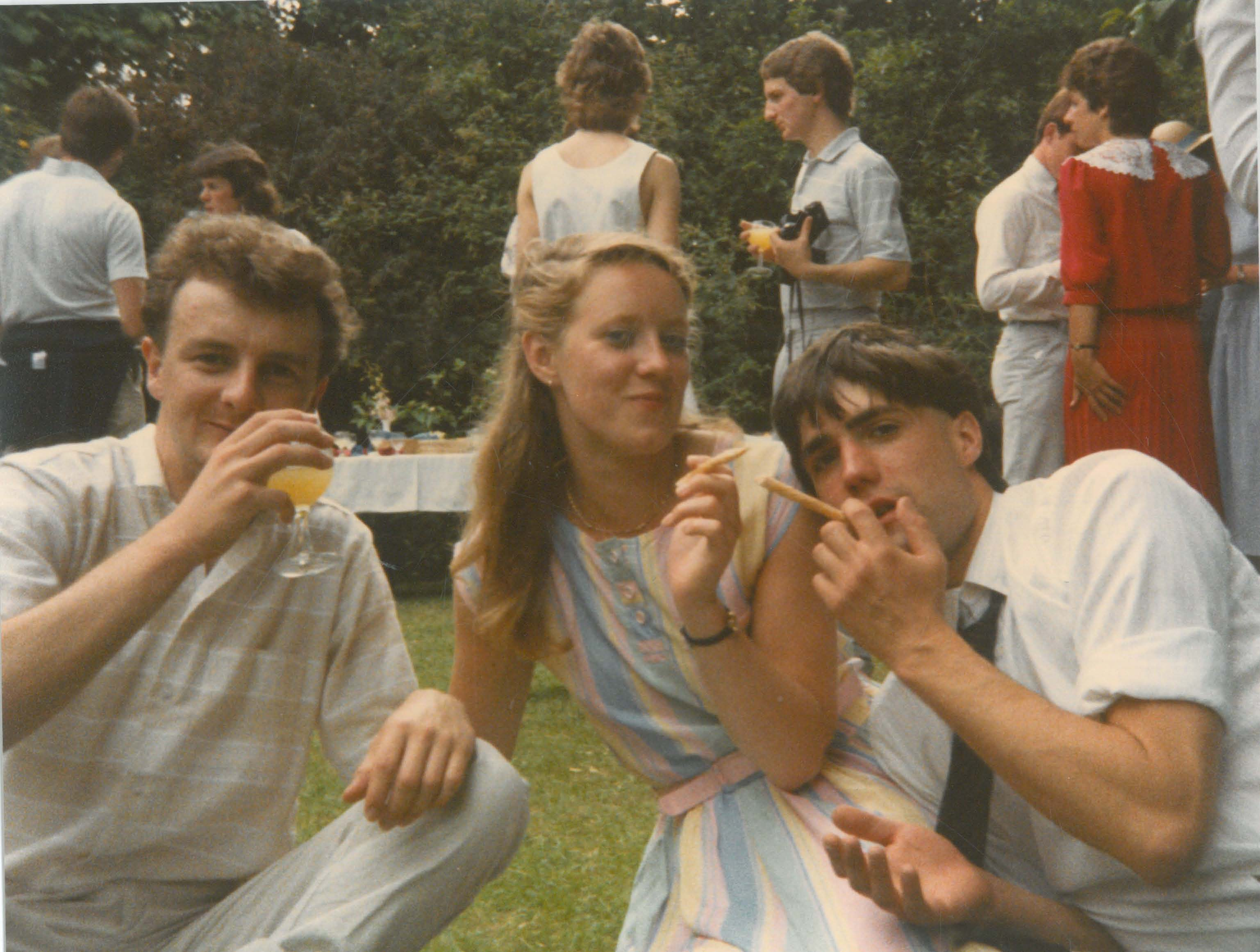 Fiona McIntosh, Matthew Holt and Andy Makin when at Fitzwilliam as students