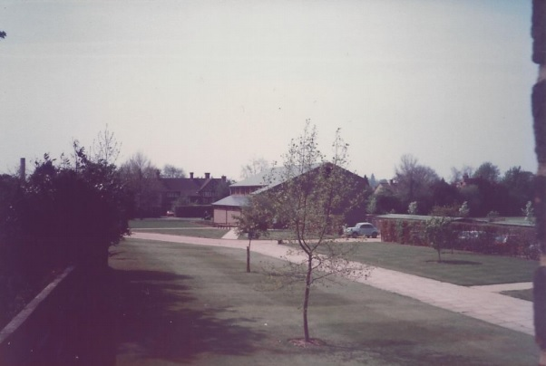 Fitzwilliam College squash courts in 1981