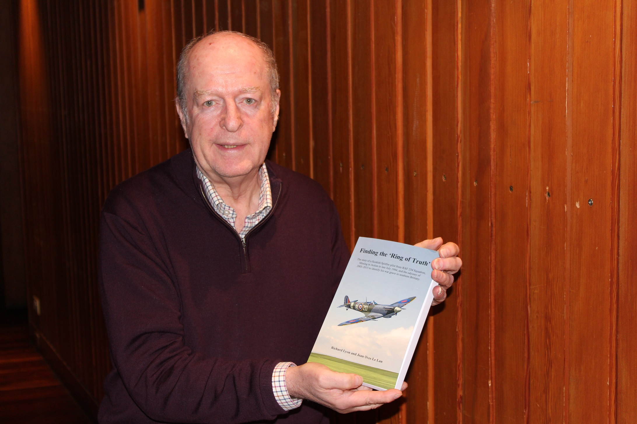 Richard Lyon with his book
