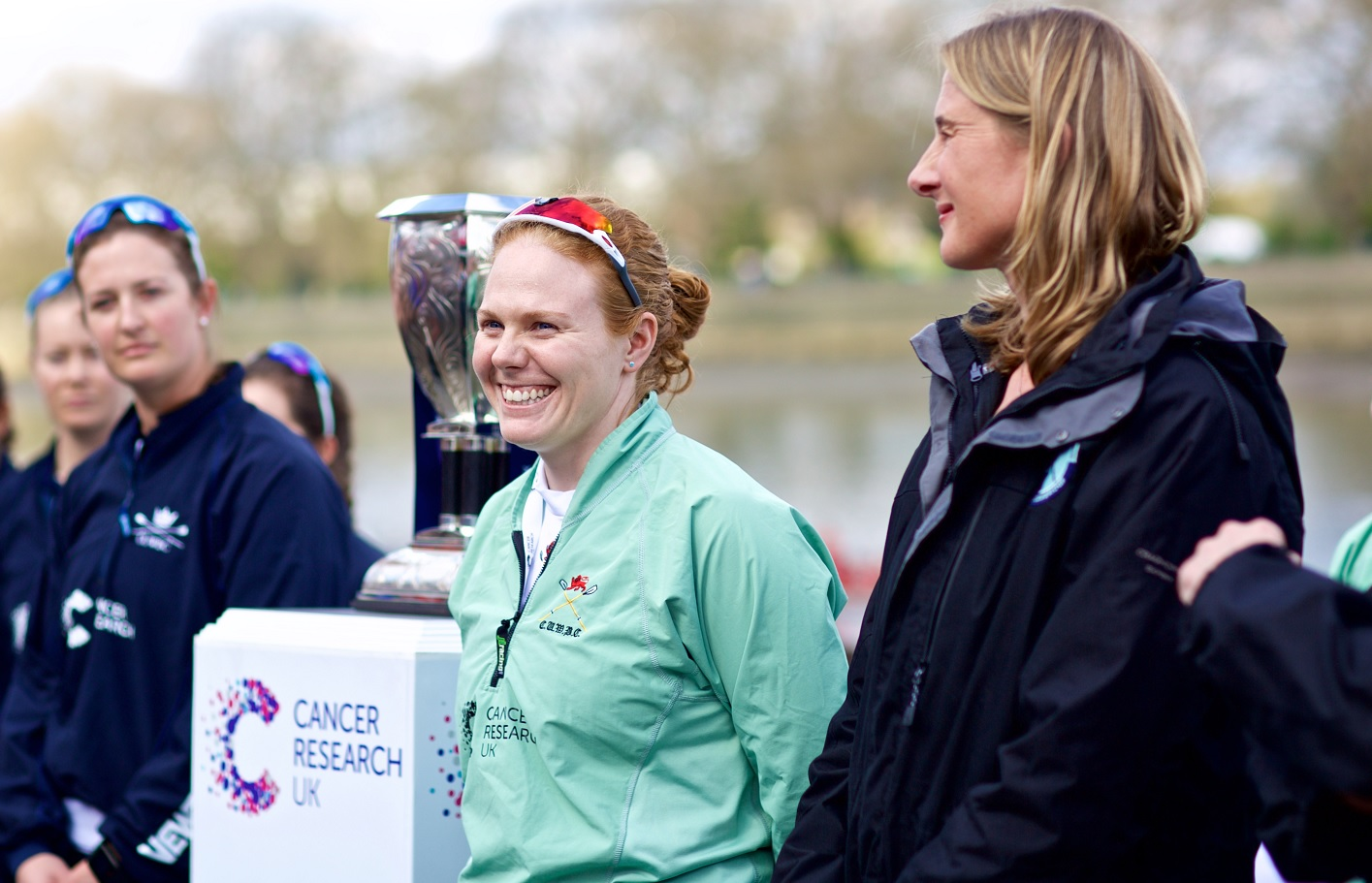 Sarah Winckless, right, was umpire at the 2017 Boat Race