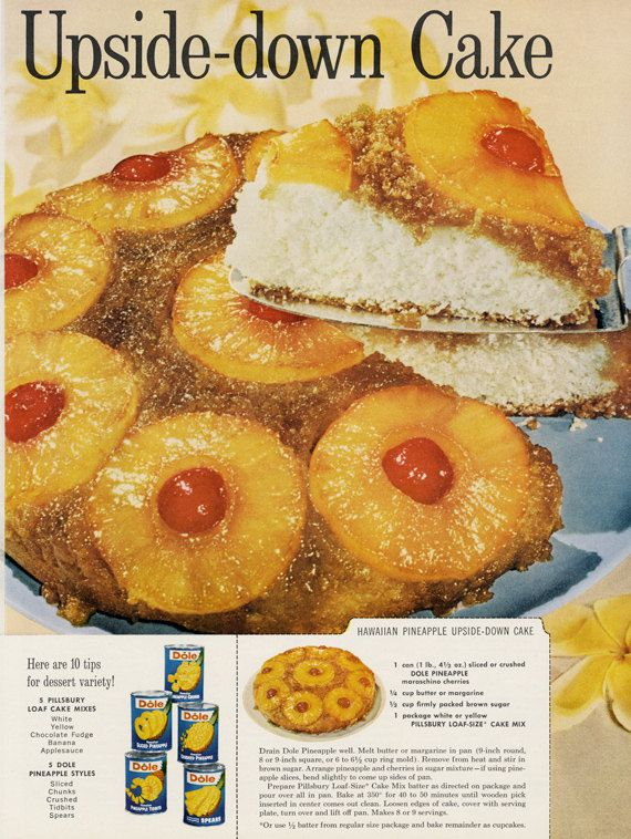 Advert for pineapple upside down cake