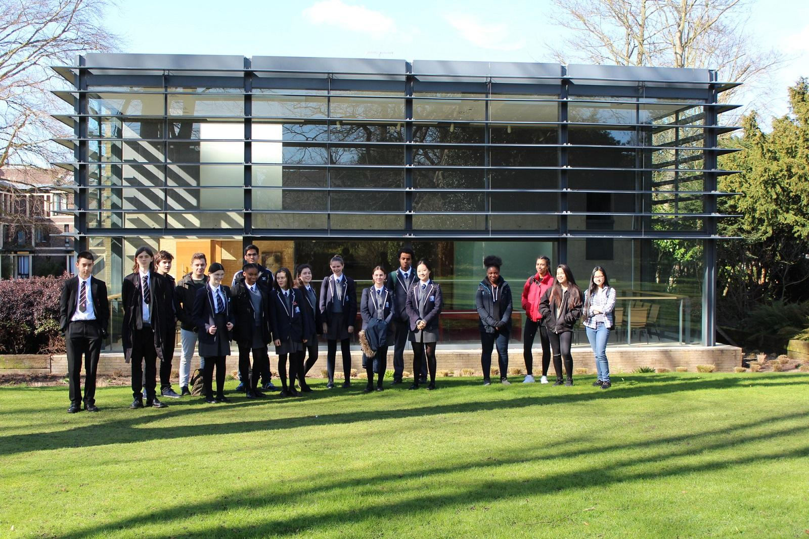 School visit to Fitzwilliam College, Cambridge