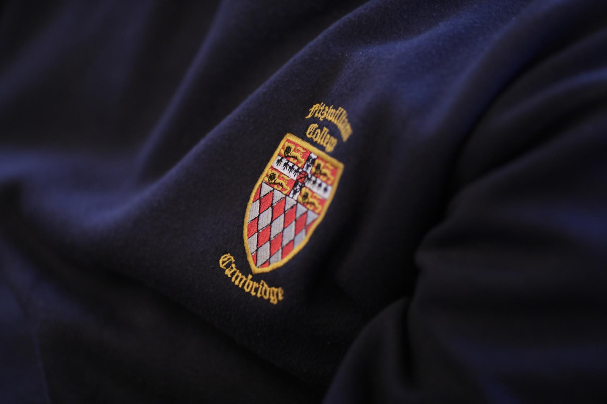 Fitzwilliam College logo on jumper