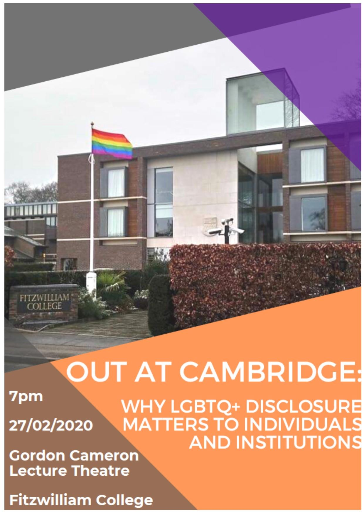 Out in Cambridge poster