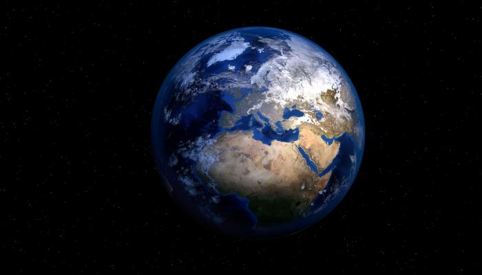 An image of the world from space