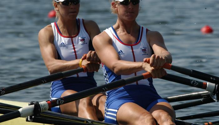 Alumna Sarah Winckless won rowing bronze at the Athens 2004 Olympics