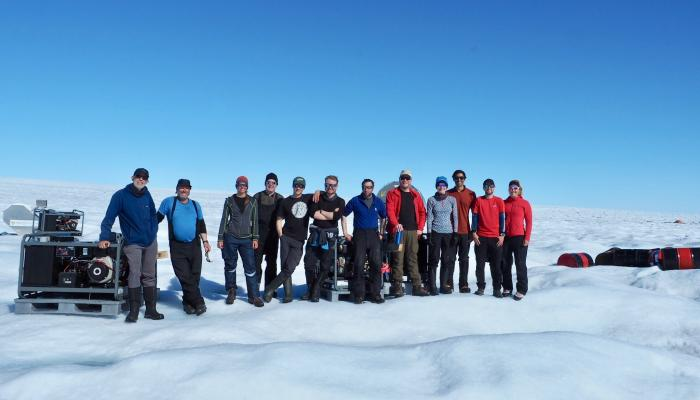 Rob and the team in Greenland