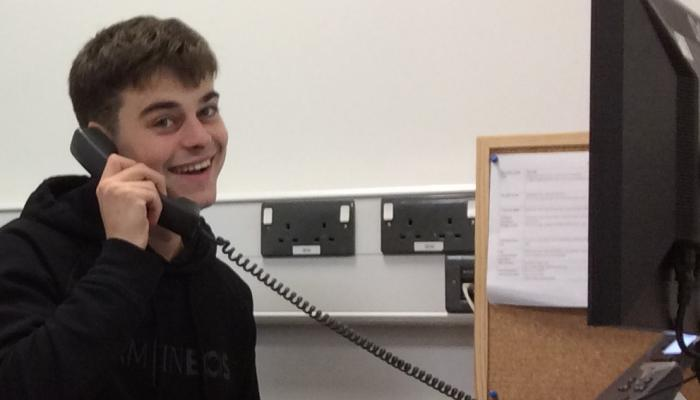 Caolan during the Telephone Campaign