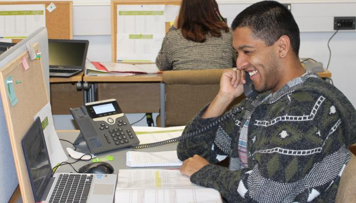 Randeep during the 2019 spring Telephone Campaign