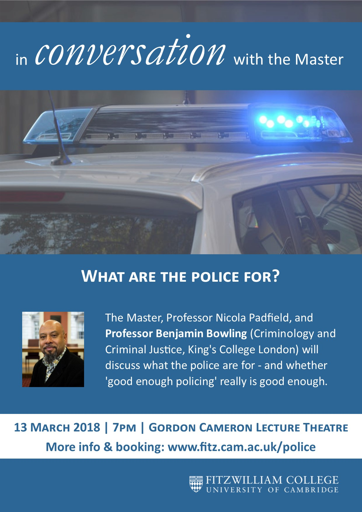 In Conversation with the Master: Policing