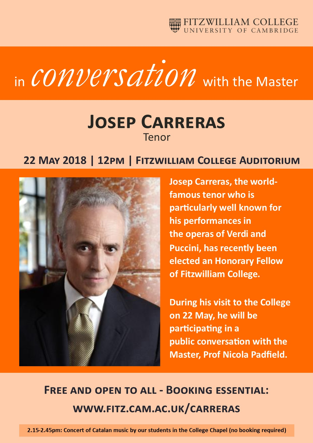 In Conversation with the Master: Josep Carreras, tenor
