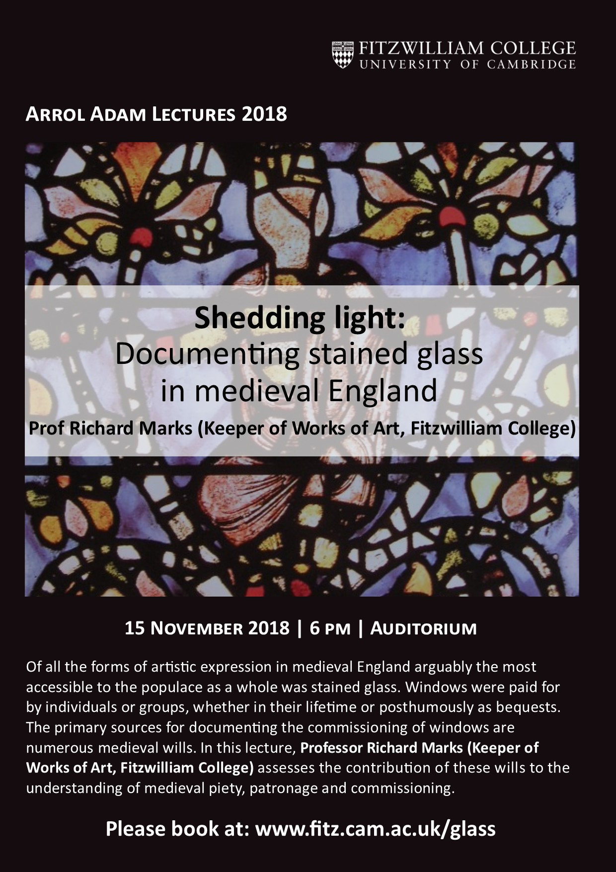 Arrol Adam: Stained glass in medieval England