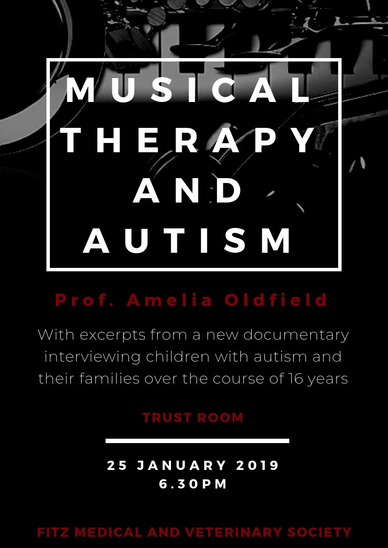 Musical therapy and autism: FCMVS talk January 2019