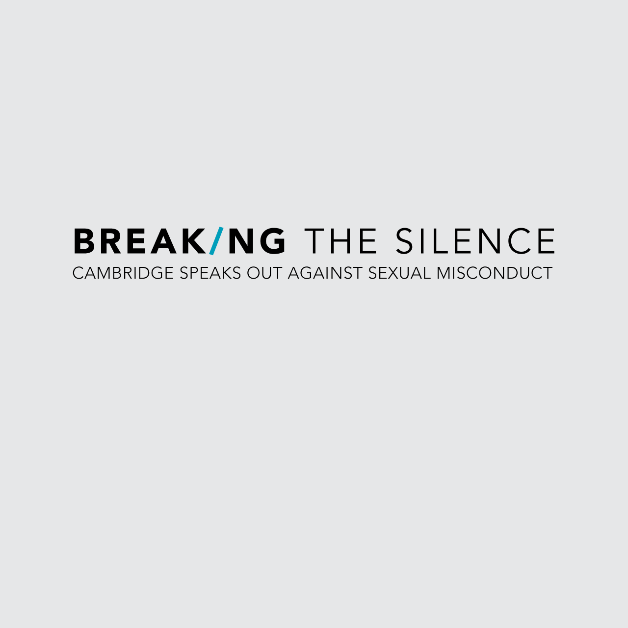 Breaking the Silence Campaign launch, University of Cambridge, October 2017