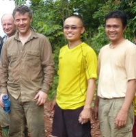 Dr David Coomes with researchers in Sabah