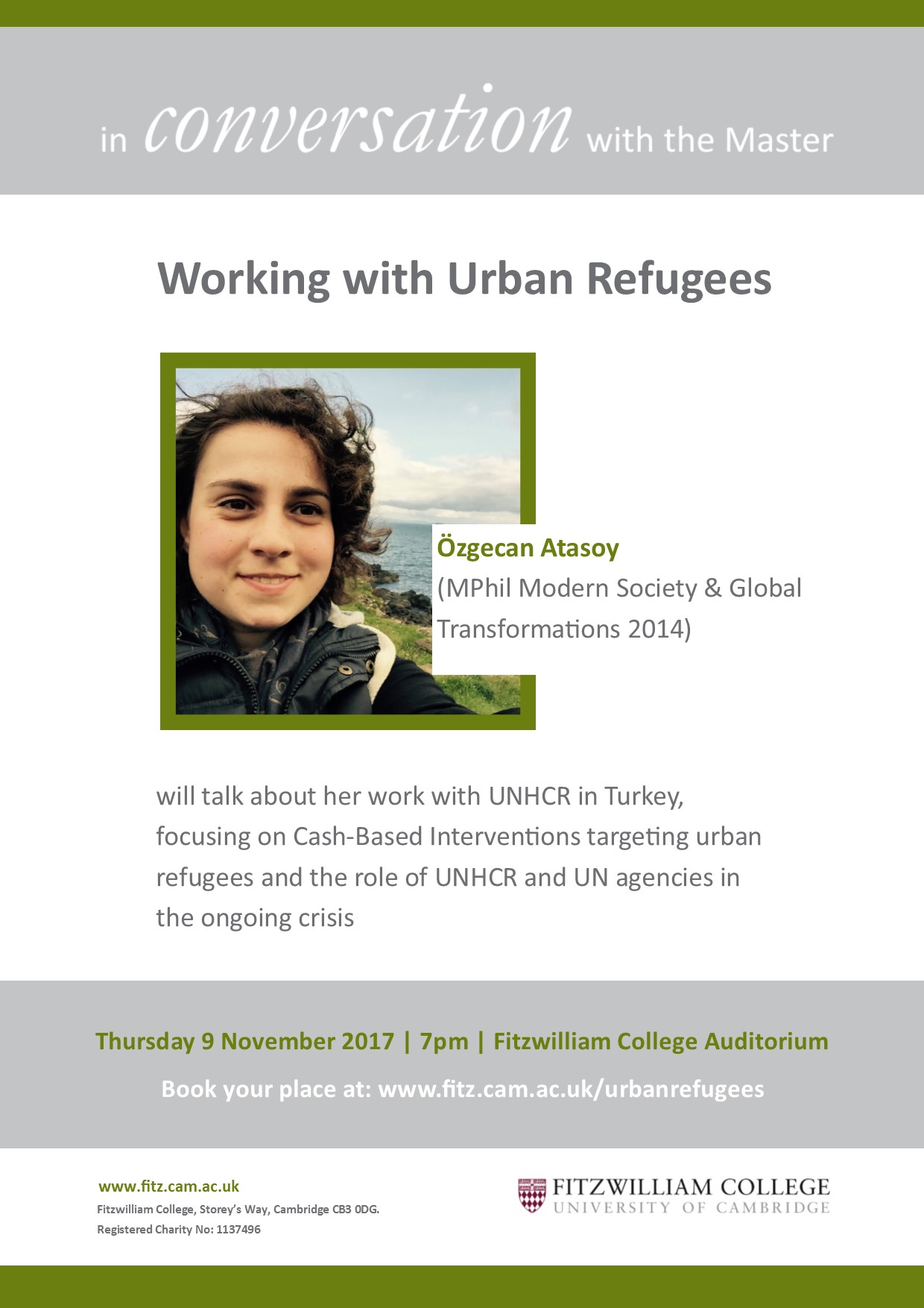 Working with Urban Refugees - In Conversation with the Master event November 2017