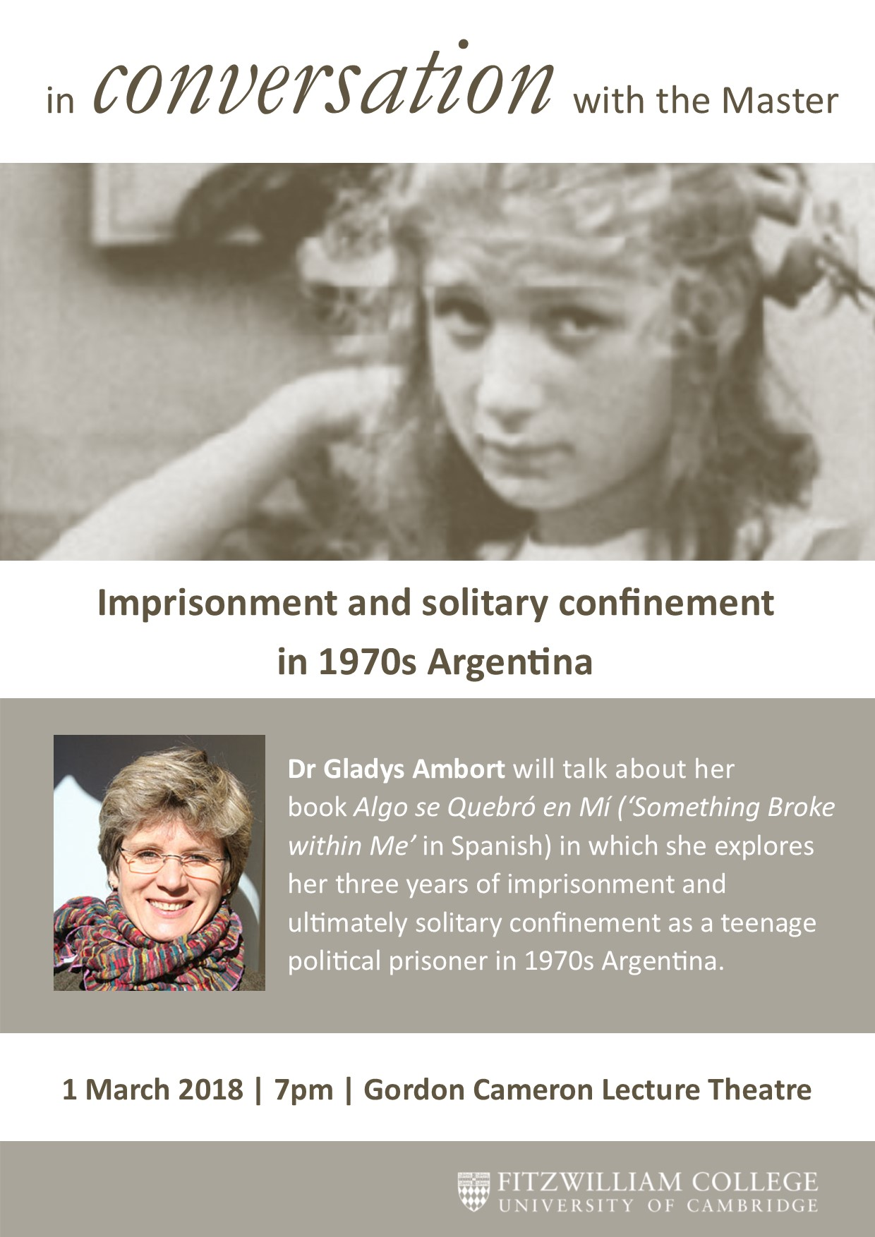 In Conversation with the Master - Dr Gladys Ambort