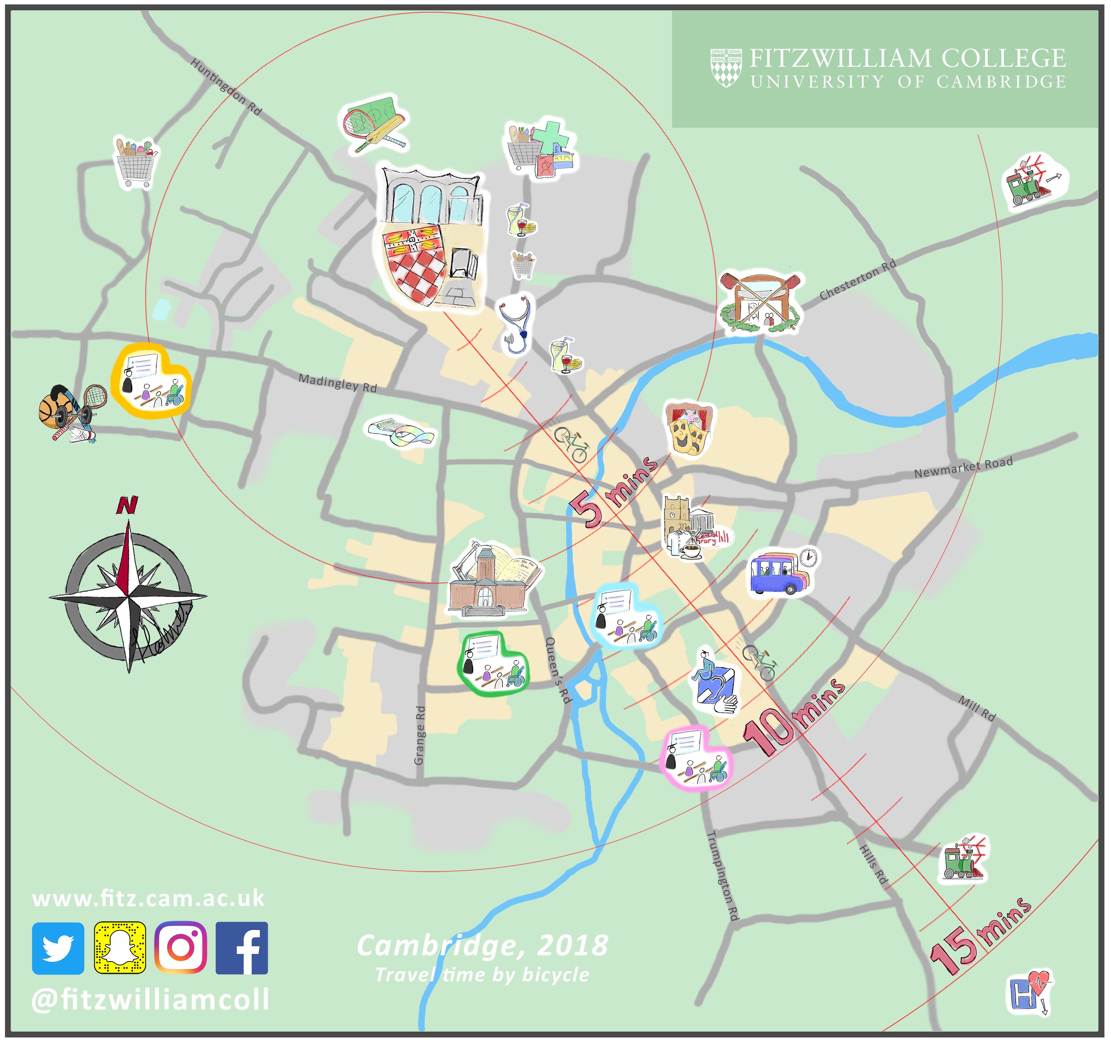 Map Fitzwilliam College