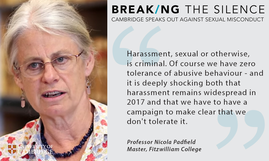 Professor Nicola Padfield, Breaking the Silence campaign
