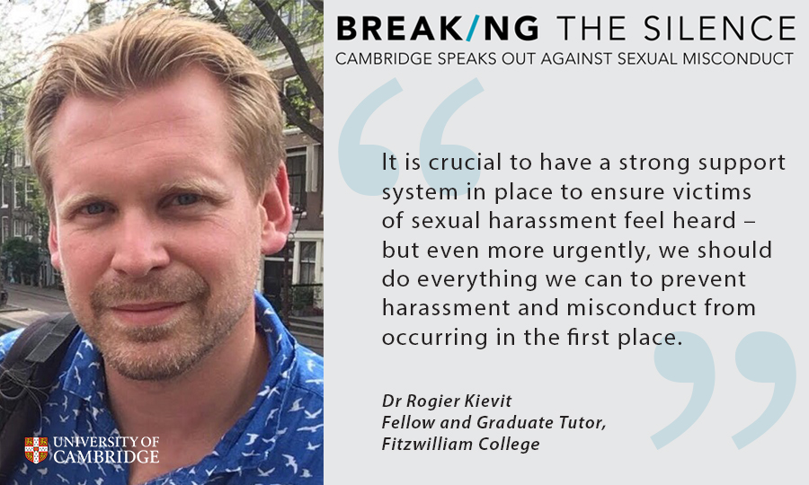 Dr Rogier Kievit, Breaking the Silence campaign