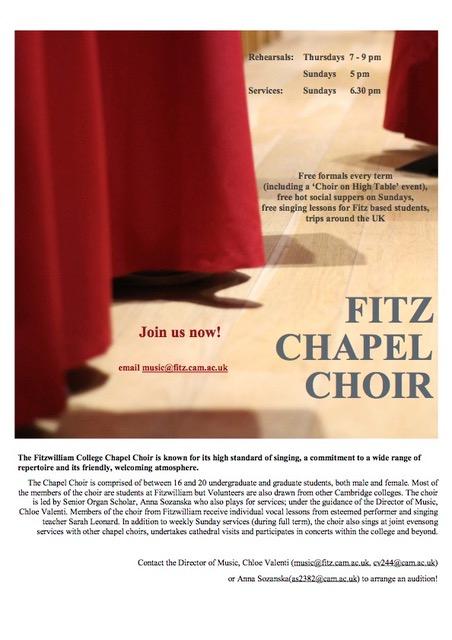 Chapel Choir, Fitzwilliam College, Cambridge