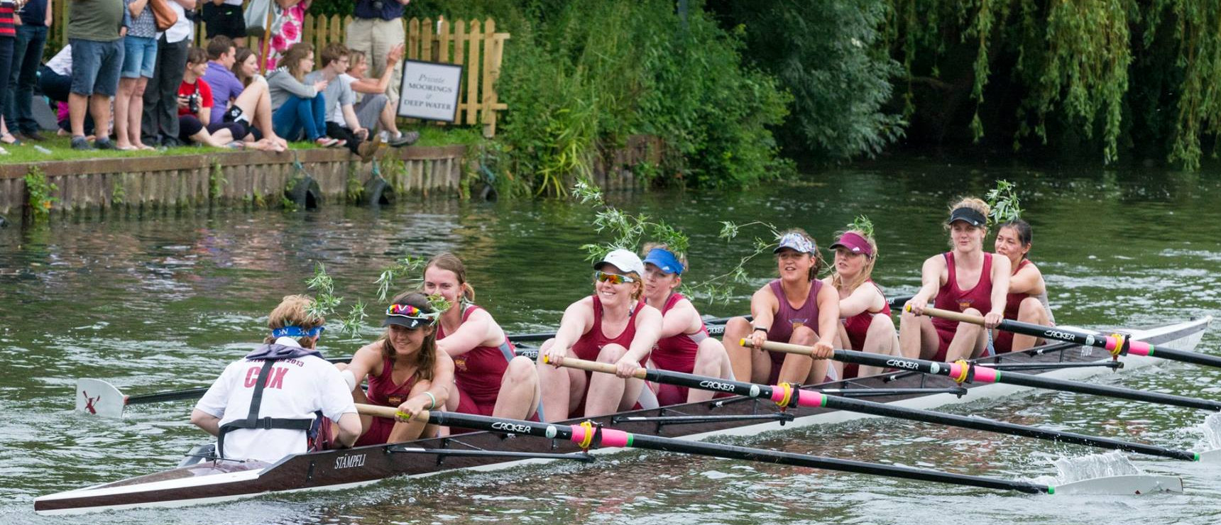 2016 Women's first boat Bumps