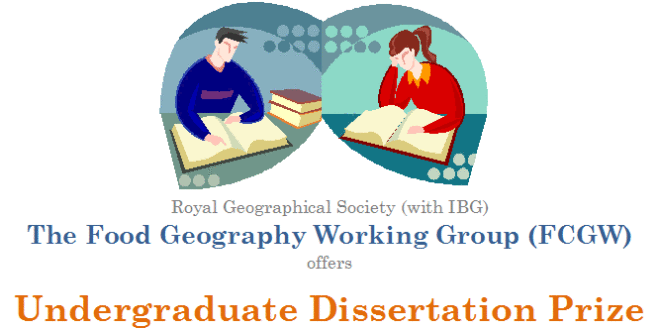 Geography Dissertation Prize Logo