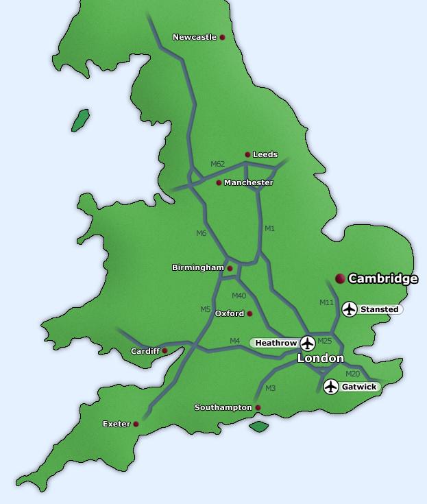 Location of Fitzwilliam College