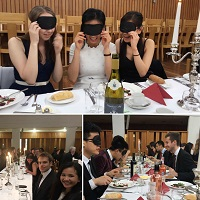 Formal in the Dark organised by the MCR to raise awareness of visual impairment
