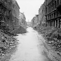 Destruction in Berlin during World War II