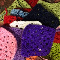 Crocheting for refugees