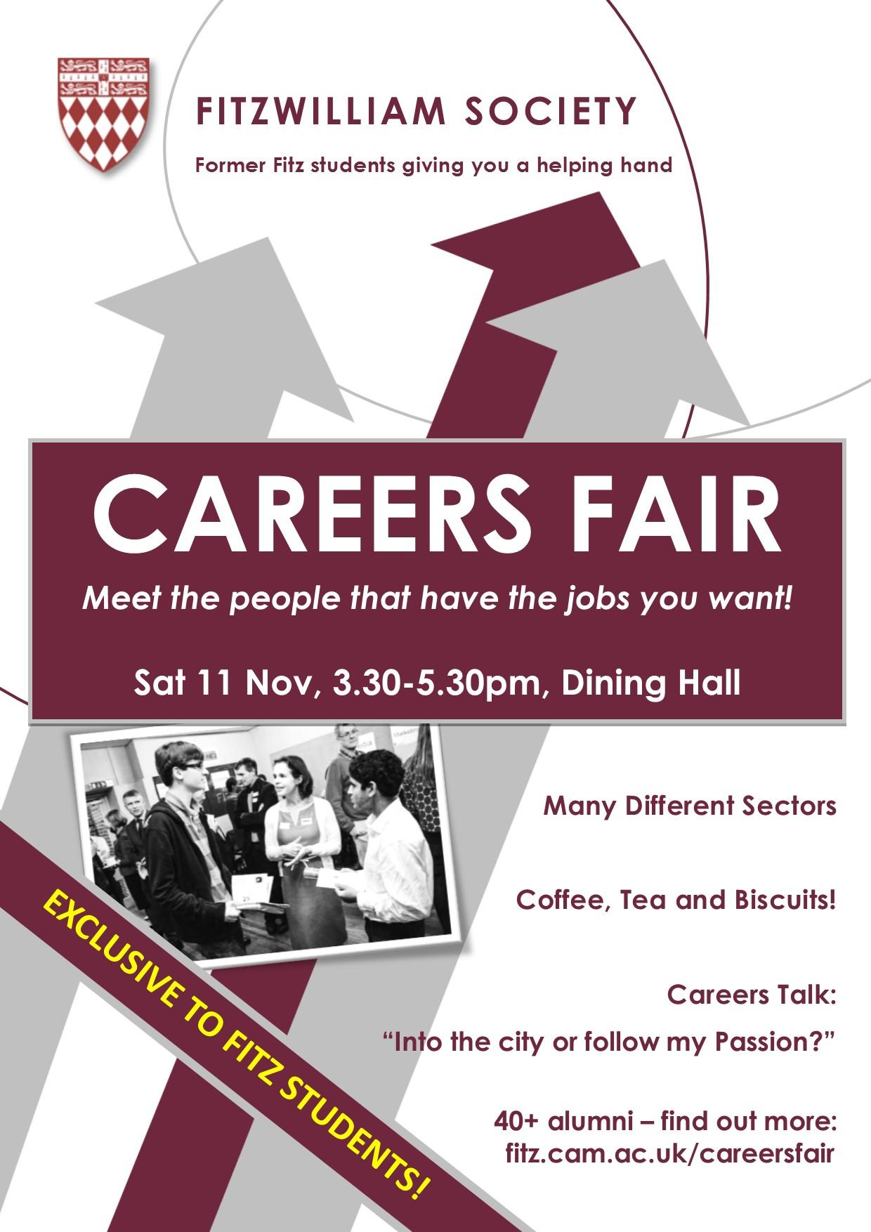 poster for fitzwilliam careers 2017 fair