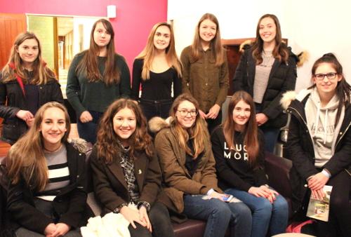 Ten Cheshire state-school pupils on shadowing scheme