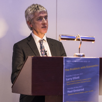 Larry Elliott speaking at Fitzwilliam College 2017-02-02